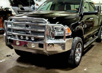 Aluminum pickup truck bumper on RAM pickup